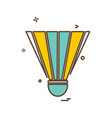 badminton shuttle icon design vector image