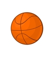 Basketball ball icon in cartoon style vector image