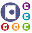 big package icons set vector image vector image