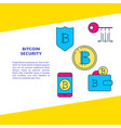 bitcoin security banner with place for text vector image
