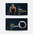 black front page template for a personal trainer vector image vector image