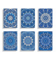 blue cards for happy new year greetings vector image vector image