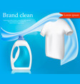 brand clothes clean concept background realistic vector image