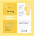 bun company brochure title page design company vector image vector image