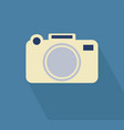 camera icon long shadow vector image vector image