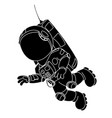 cartoon astronaut flying vector image vector image