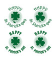 clover icons set for st patricks day vector image vector image