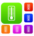 cold thermometer set collection vector image vector image