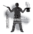 Computer magician vector image vector image