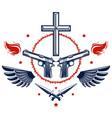 criminal gangster dramatic emblem or logo with vector image vector image
