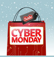 design for the cyber monday sale vector image