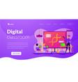 digital classroom landing page template vector image vector image