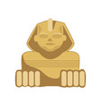 egyptian sphinx statue symbol of ancient egypt vector image vector image