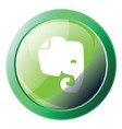 evernote green icon on a white background vector image vector image