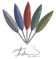 feather fantail vector image vector image