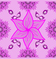 flowers on pink magenta and neutral colors vector image vector image