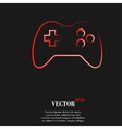 Gaming Joystick Flat modern web button and space vector image vector image