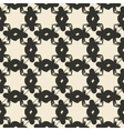 Geometric ornament seamless pattern Monochrome vector image