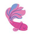 golden fish animal cartoon doodle color vector image