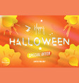 happy halloween typography poster with special vector image vector image