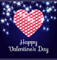 happy valentines day card with dark background vector image vector image