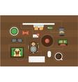 hipster desk header vector image vector image