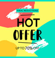hot offer sale banner vector image vector image