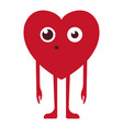 hy surprised heart symbol vector image