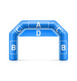 inflatable arch inflatable archway template with vector image vector image