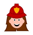 isolated female firefighter avatar vector image vector image