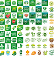 large set of logos for natural products vector image