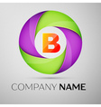 Letter B logo symbol in the colorful circle vector image vector image