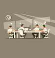 meeting of businessmen vector image