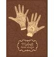 Mehndi Hand design vector image vector image