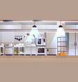 modern interior professional cafe or restaurant vector image