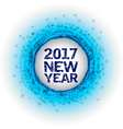 New Year as abstract fireworks vector image