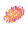 opportunity isometric word design with letters and vector image vector image
