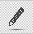 pencil pictogram icon simple flat for business vector image vector image