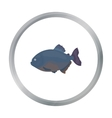 Piranha fish icon cartoon Singe aquarium fish vector image vector image