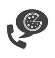 pizza phone order glyph icon vector image