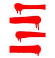 red spray paint frame graffiti spray vector image