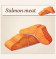 salmon meat icon cartoon vector image
