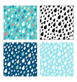 seamless patterns of droplets vector image
