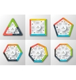 Set of geometric shapes for infographic vector image vector image