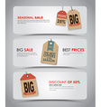 set white banners for sale vector image vector image