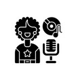 soul music black glyph icon vector image vector image