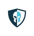 spartan logo design vector image vector image