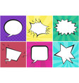 speech bubbles on dotted and striped backgrounds vector image vector image