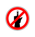 stop cad sign ban red prohibition symbol you vector image vector image