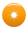 sun icon orange vector image vector image